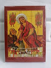 Ікона Пресвятої Богородиці «Кассопитра» на дерев'яному корпусі 11.5х15.5см