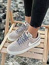 Кроссовки женские Nike Air Force Reflective, серые, фото 7