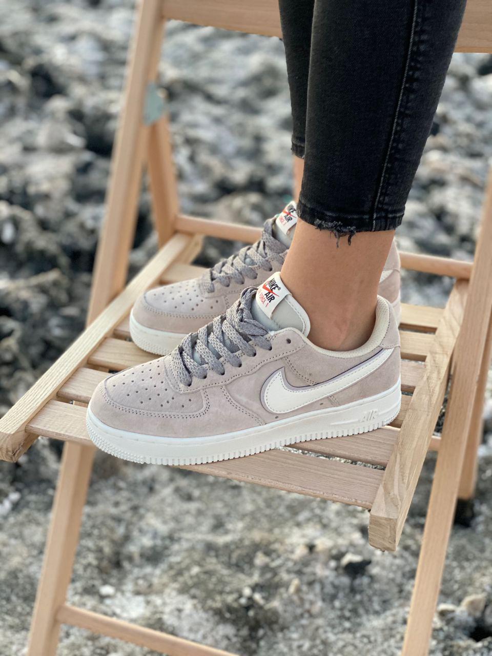 Кроссовки женские Nike Air Force Reflective, серые