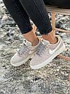 Кроссовки женские Nike Air Force Reflective, серые, фото 2