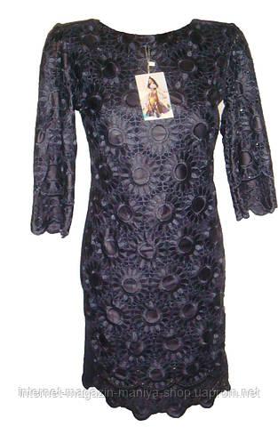 Женское платье трикотаж норма и полубатал