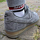 Кроссовки мужские Nike Air Force 1 Reflective, серые, фото 5