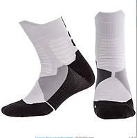 Носки спортивные длинные для спортивной обуви баскетбола Zelart Хлопок Размер 40 - 45 Белый (DML7300-7501)