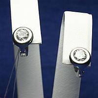Детские серьги серебро Пуговка 2238б