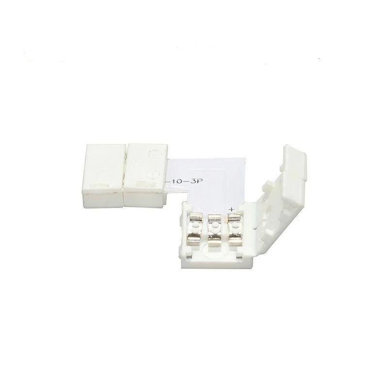 Коннектор угловой для адресной светодиодной ленты WS2811 | WS2812 3pin 10mm