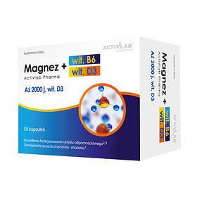 Magnez+wit.B6+wit.D3 (50 caps)