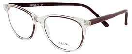 Оправа для очков прозрачная, пластиковая женская, заушник удобный, тёмный, Dacchi