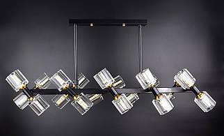Люстра потолочная на 20 лампочек 8180/20 Черный 40х34х90 см.