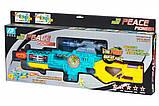 Дитячий бластер зі світлом і звуком + ліхтарик, Peace Pioner, Same Toy, фото 5