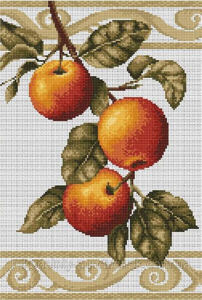 Набор для вышивки крестом Luca-S B276 Веточка яблони