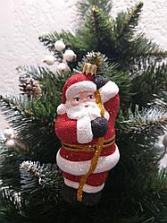 """Новогодняя подвеска на елку """"Санта"""" высота 20 см, пластиковая"""