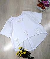 Модная женская футболка Ассиметрия