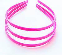 Основа для ободка Розовая пластмассовая 8 мм Обруч,ободок