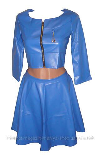 Женское платье экокожа
