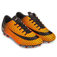 Бутсы футбольные детские Pro Action Термополиуретан RB Черный-оранжевый (VL17562-TPU37-BO) 31