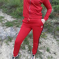 Брендовый женский турецкий спортивный костюм красный размер S