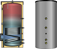 Бойлер косвенного нагрева воды 150л с 1-м змеевиком EBS-PU 150 Meibes- Huch(Германия) и с несъемной изоляцией