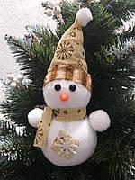 """Новогодняя подвеска на елку """"Снеговик"""" высота 20 см, материал комбинированный"""