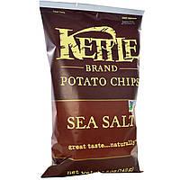 ОРИГІНАЛ!Kettle Foods,Картопляні чіпси,морська сіль 142 грам виробництва США