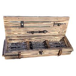 """Набір шампурів """"Лицар"""" Gorillas BBQ в дерев'яній коробці"""