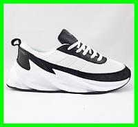 Кроссовки Adidas $harks Мужские Адидас Бело - Чёрные Акула (размеры: 41,42,,44) Видео Обзор