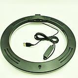 Кільцева LED лампа Ukc 16W з тримачем для телефону S31, фото 5