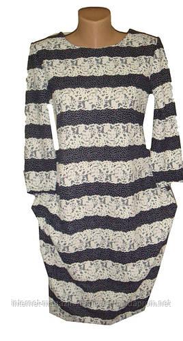 Женское платье трикотаж полубатал
