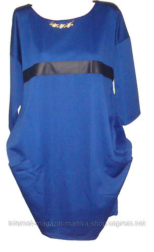 Женское платье трикотаж батал