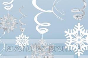 Подвески, гирлянда праздничная, новогодняя Снежинки. Новогодняя гирлянда.