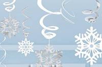 Подвески праздничные, новогоднии Снежинки, новогодняя гирлянда