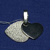 Серебряный кулон Сердце, родированный 3089-р