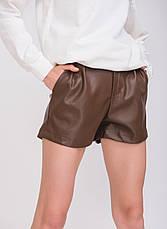 Женские шорты под кожу, в расцветках, р.M,L,XL, фото 2
