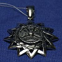 Серебряная подвеска Звезда Эрцгаммы 3115/1-ч, фото 1