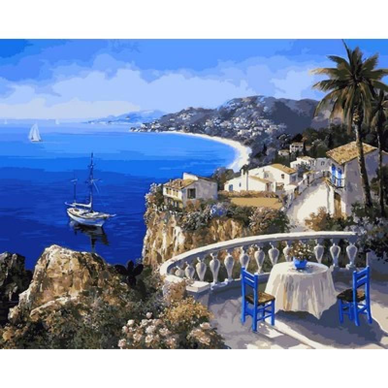 Премиум Картина рисование по номерам Ницца Франция - жемчужина лазурного берега, 40х50 см., Mariposa NB2108