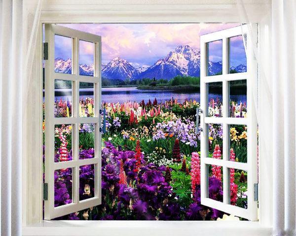 Картина рисование по номерам Чарівний діамант Лето за окном РКДИ-0202 40х50см набор для росписи, краски,