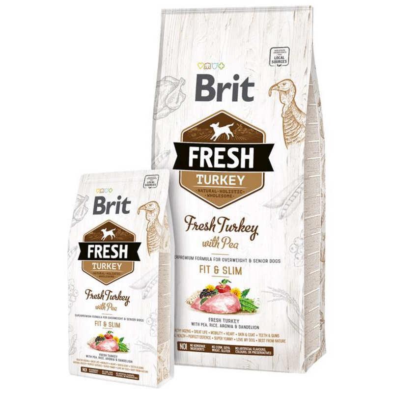 Brit (Брит) Fresh Turkey With Pea Light Fit Slim Adult - Сухой корм с индейкой и горошком для взрослых собак