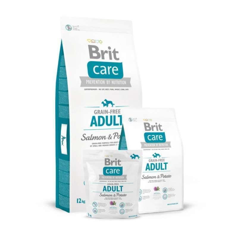 Brit Care (Брит Кеа) Adult Salmon & Potato - Сухой корм для взрослых собак всех пород с лососем и картофелем