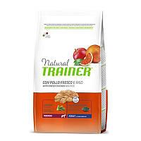 Trainer (Трейнер) Natural Adult MEDIUM Con Pollo Fresco, Riso & Aloe Vera - Сухой корм с курицей, рисом и Алоэ Вера для взрослых собак средних пород
