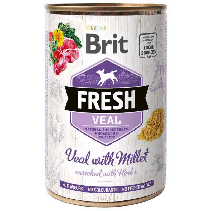Brit (Брит) Fresh Veal & Millet - Консервы с телятиной и пшеном для собак