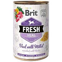 Brit (Брит) Fresh Veal & Millet - Консервы с телятиной и пшеном для собак, фото 1