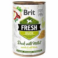 Brit (Брит) Fresh Duck & Millet - Консервы с уткой и пшеном для собак, фото 1