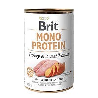 Brit (Брит) Mono Protein Turkey & Sweet Potato Консервы для собак с индейкой и сладким картофелем