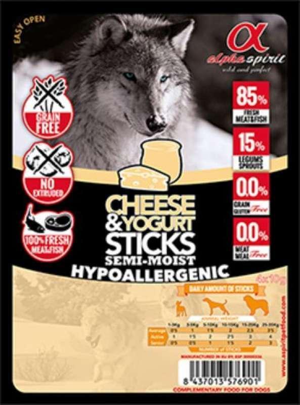 Alpha Spirit (Альфа Спирит) Sticks Cheese&Yogurt - Полувлажное лакомство для собак (палочки с йогуртом и сыром)