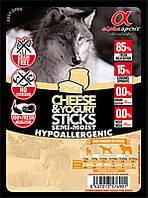 Alpha Spirit (Альфа Спирит) Sticks Cheese&Yogurt - Полувлажное лакомство для собак (палочки с йогуртом и сыром), фото 1