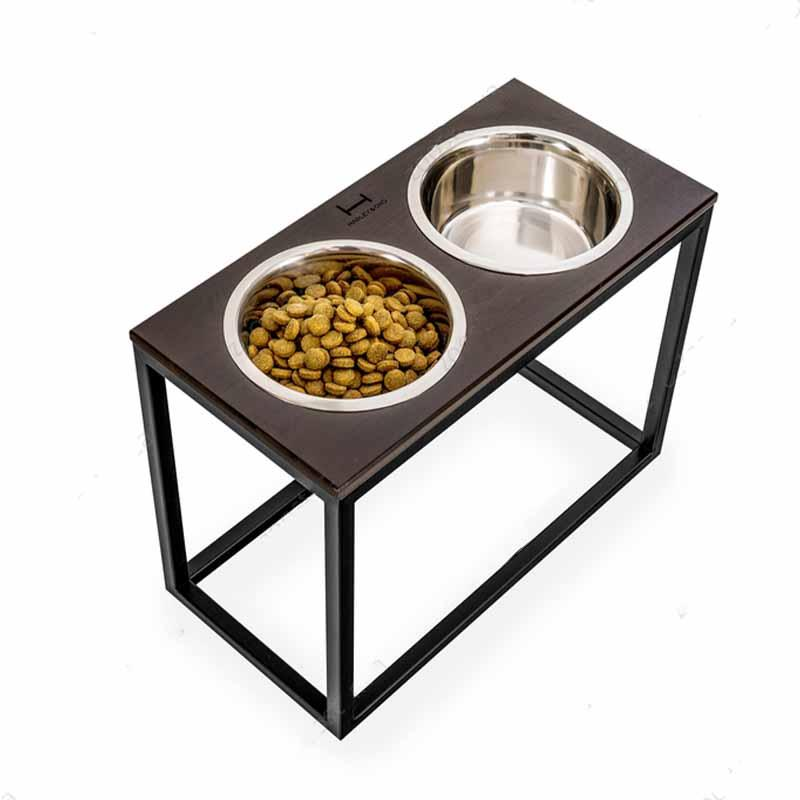 HARLEY & CHO (Харли энд Чо) Dinner - Мисочки на деревянной подставке для больших собак