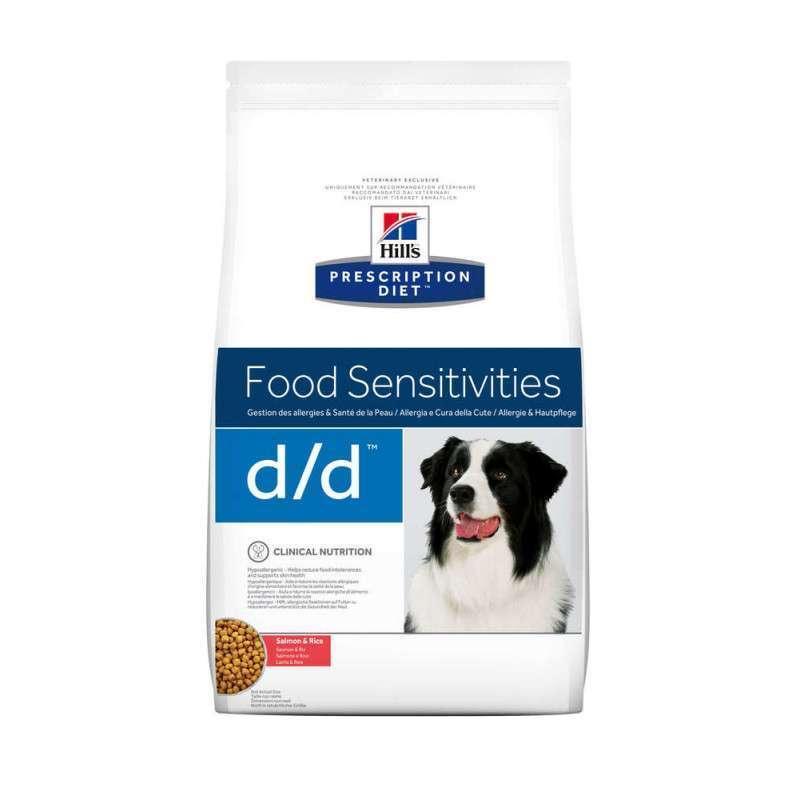 Hill's (Хиллс) Prescription Diet d/d Food Sensitivities - Корм-диета с лососем и рисом для собак с чувствительным пищеварнием