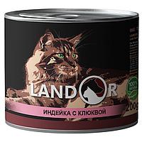 Landor (Ландор) Sterilized Cat Turkey&Cranberry - Консервированный корм с индейкой и клюквой для стерилизованных взрослых кошек