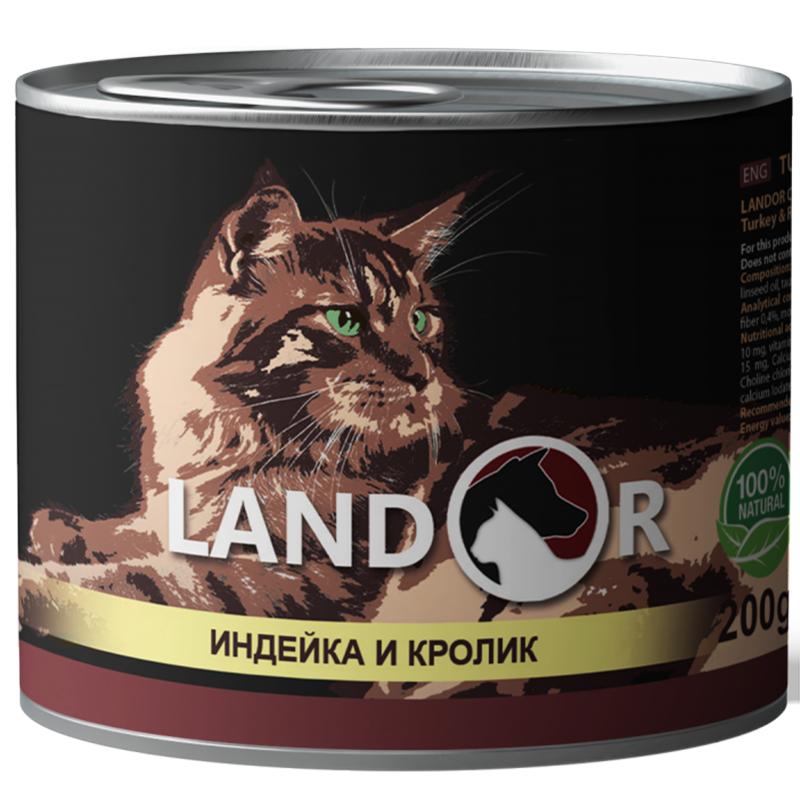 Landor (Ландор) Adult Turkey&Rabbit - Консервированный корм с индейкой и кроликом для взрослых кошек