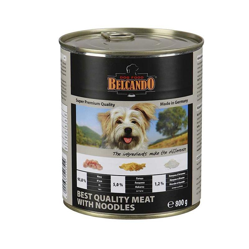 Belcando (Белькандо) - Консервированный суперпремиальный корм с отборным мясом и лапшой для собак всех возрастов