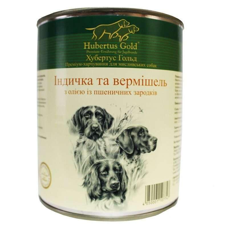 """Hubertus Gold (Хубертус Голд) Консервированный корм """"Индейка и вермишель"""" для активных собак"""